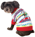 BuySeasons 580050L Ugly Christmas Sweater with Candy Canes Pet Costume S