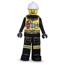 Disguise 249080 Lego Iconic - Firefighter Prestige Child Costume (10 - 12)