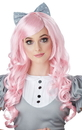 California Costumes 249727 Pink Cosplay Doll Adult Wig w/ Clip on Bow