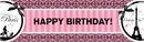 BirthdayExpress 252547 Paris Damask Birthday Banner