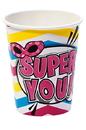 Birthday Express 252766 Superhero Girl 9 oz. Paper Cups