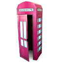 Advanced Graphics 253641 Pink Phone Booth Cardboard Stand