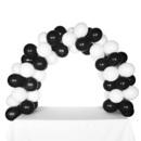 Celebration Tabletop Balloon Arch-Black & White