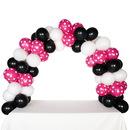 Celebration Tabletop Balloon Arch-Black, White & H