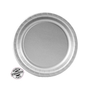 Creative Converting 6C Shimmering Silver (Silver) Paper Dessert Plates