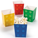 FUN EXPRESS 13706160 Block Party Popcorn Boxes (24)