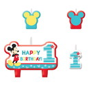 Amscan 261406 Mickey's Fun To Be One Candle Set (4)