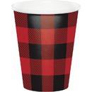 Creative Converting 261776 Lumberjack Plaid 9oz Cups (8)