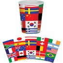 Beistle 262580 International Flag Beverage 9 oz Cups (8)