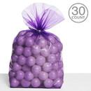 UNIQUE INDUSTRIES 262630 Cello Bags Purple (30)