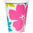 Amscan 262825 Hibiscus White 9oz Cups Spr Vl
