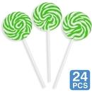 5/1489 Green Swirl 2 Lollipops (24)