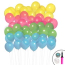 Birthday Express 263567 Ombre Balloon Kit (Aqua, Lime, Hot Pink & Yellow)