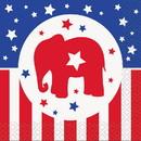 UNIQUE INDUSTRIES 263605 Republican Party Cocktail Napkins (16 Count)