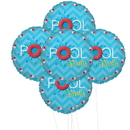 Splashin Pool Party 5pc Foil Balloon Kit