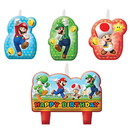 Amscan 265369 Super Mario Birthday Candle Set(4)