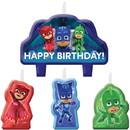 Amscan 265373 PJ Masks Birthday Candle Set(4)