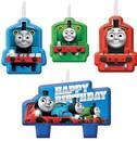 Amscan 265374 Thomas the Train All Abaord Birthday Candle Set(4)