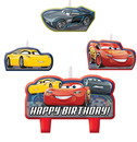 Amscan 265375 Disney Cars 3 Birthday Candle Set(4)