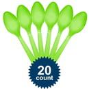Amscan 265729 Lime Plastic Spoons