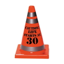 30th Birthday Plastic Cone Decoration (Each)