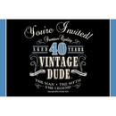 Creative Converting 265862 Vintage Dude 40th Invitations (8 Pack)