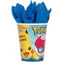 Amscan 266121 Pokemon Core 9oz Paper Cups (8)