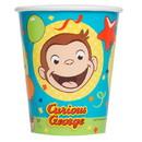 UNIQUE INDUSTRIES 266197 Curious George 9oz Paper Cups (8)