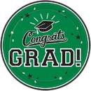 Graduation 7 Dessert Plate Green - 18 Count