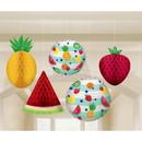 Amscan 268132 Hello Summer Honeycomb Hanging Fruit & Paper Lante