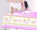 1st Birthday Pink Glitter Centerpiece (1)