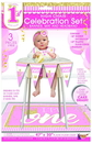 1st Birthday Pink High Chair Set