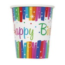 UNIQUE INDUSTRIES 269263 Rainbow Ribbons Birthday 9oz. Cup (8)