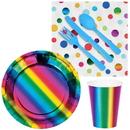 126058 Metallic Rainbow Snack Pack for 16