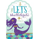 Amscan 269787 Mermaid Wishes Postcard Invitations (8)