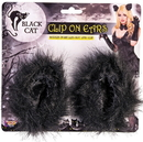 Forum 270036 Black Cat Clip on Ears - Adult