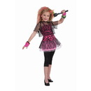 Forum Novelties 270725 Child 80s Punk Rock Star Girl Costume