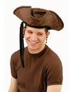 Forum Novelties 270779 Brown Distressed Adult Pirate Hat with Beads