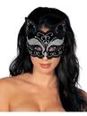 Forum 271596 Mardi Gras Adult Mask - Glitzy Cat Black