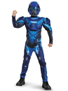 Disguise 272134 Blue Spartan Classic Muscle Child Costume S