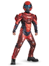 Disguise 272138 Red Spartan Classic Muscle Child Costume S