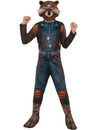 Rubies 274009 Guardians Of The Galaxy Rocket Raccoon Child Costume L