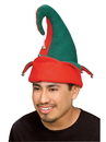 Adult Red and Green Elf Hat with Bells