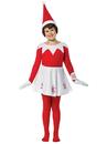 Girls Sitting Elf Costume - Medium