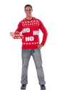 Adult Ho Ho Ho Christmas Sweater - Large