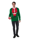 Men's Santa Head Christmas Sweater - Large