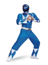 Disguise 79731D Power Rangers - Mighty MorphinBlue Ranger Classic Muscle Adult Costume - XL 42-46