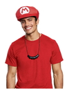 Disguise 67805 Super Mario Bros. Mario Hat & Mustache Necklace Kit - One Size