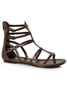 Ellie Shoes 015-ATHENA7 Women's Bronze Gladiator Sandal - Size 7