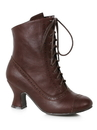 Ellie Shoes 253-SARAH8 Woman's 2.5 inch Heeled Brown Victorian Bootie - Size 8